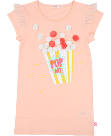 SS19 Robe Manches Courtes, Popcorn - Billieblush