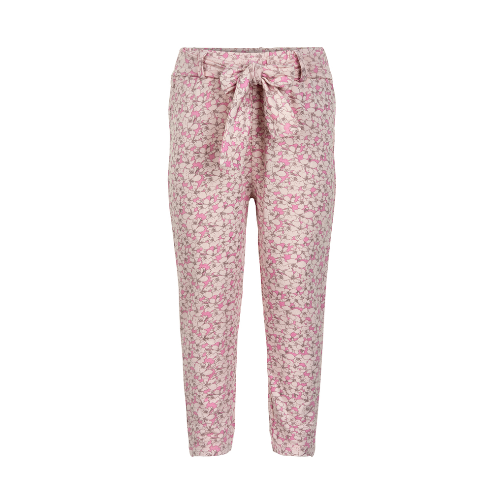 Minymo SS19 pantalon rose fleurs bamboo / trousers minymo