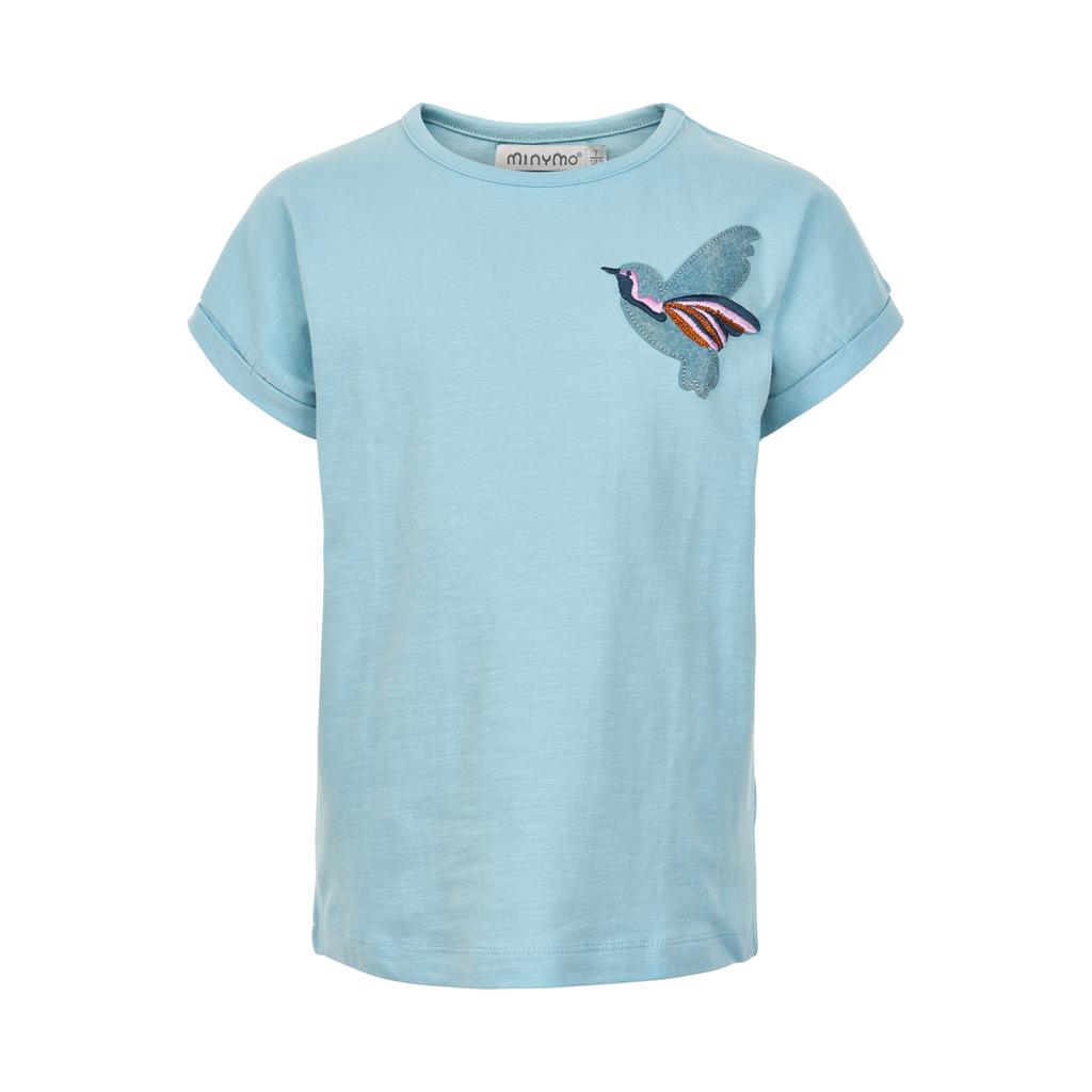 Minymo SS19 T shirt broderie oiseau minymo