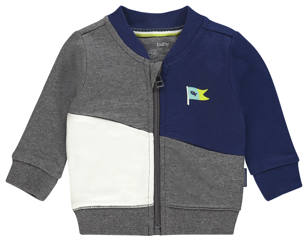 Noppies SS19 Chandail bleu blanc et gris de Noppies - sweatshirt