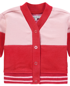 SS19 - Cardigan rose et rouge de Noppies