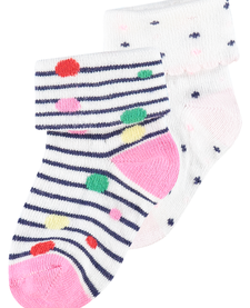 SS19 Paquet de 2 Paires de Bas Noppies rose/ Socks