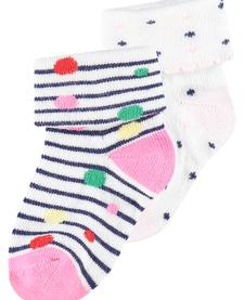 SS19 Paquet de 2 Paires de Bas Noppies rose/ Socks