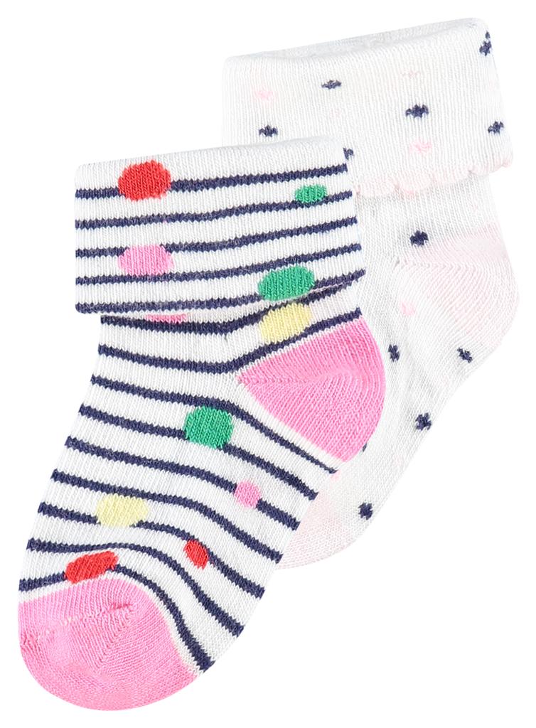 Noppies SS19 Paquet de 2 Paires de Bas Noppies rose/ Socks