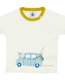 SS19 Chandail blanc voiture - Petit Bateau