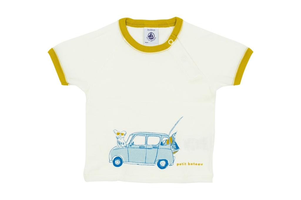 Petit Bateau SS19 Chandail blanc voiture - Petit Bateau