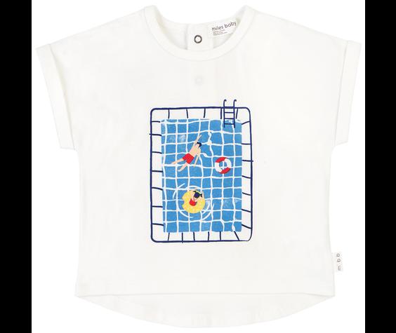 Miles Baby SS19 T-Shirt Tricot Imprimé Piscine de Miles Baby