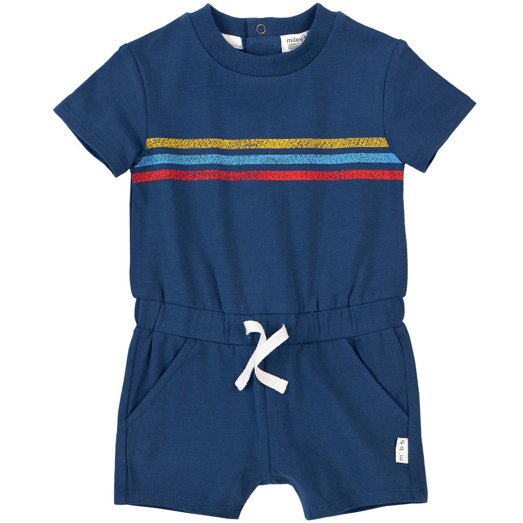 Miles Baby SS19 Combinaison Bleue à Rayures de Miles Baby