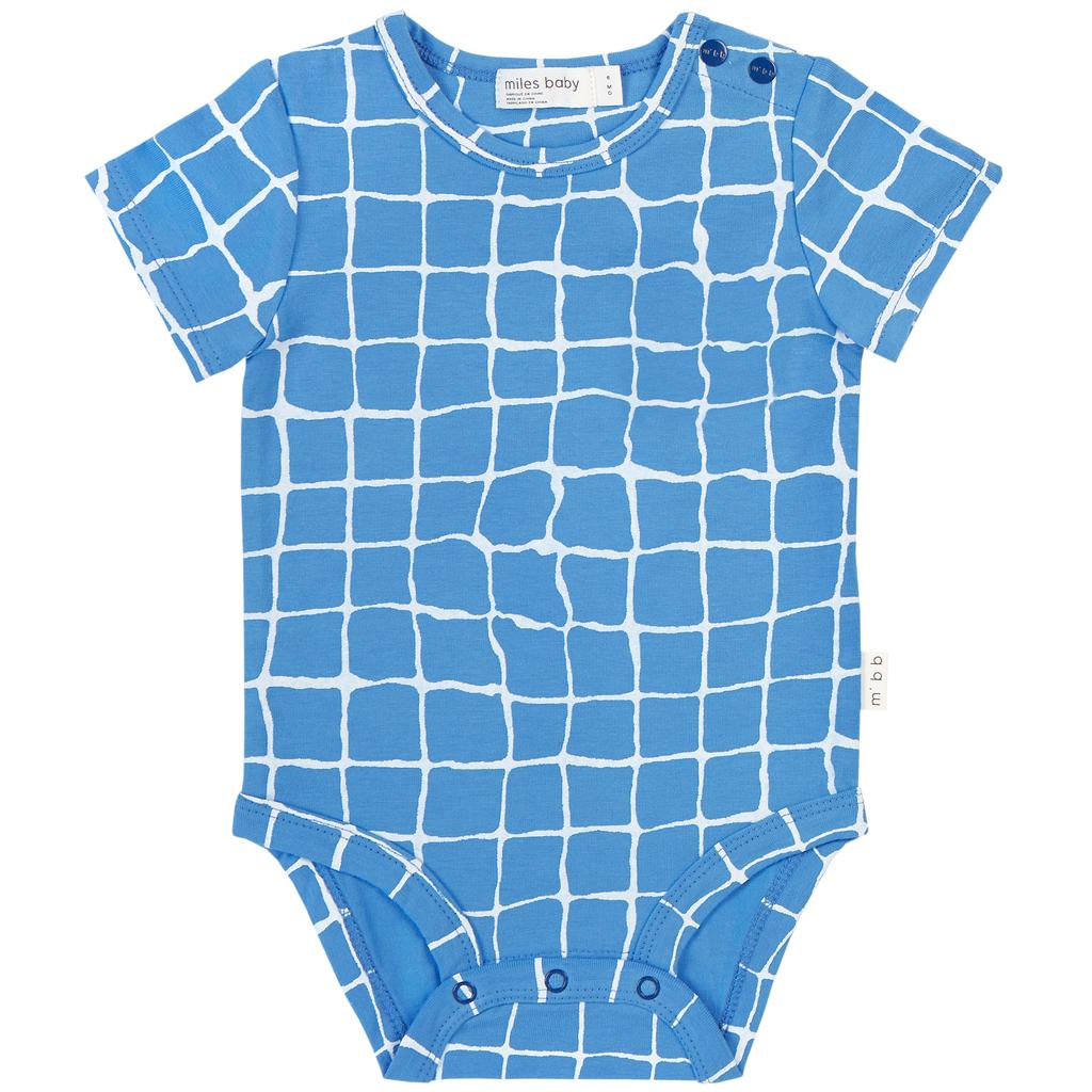 Miles Baby SS19 Cache-Couche à Carreau Bleu de Miles Baby