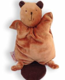 Les Douillets Bébé Castor en Bambou de Papoum Papoum/ Beaver Bamboo Blanket