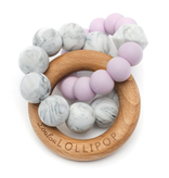 Loulou Lollipop Anneaux de Dentition en silicone et bois Mauve/ Lilac Silicone and Wood Teether de Loulou Lollipop
