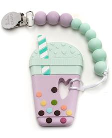 Jouet de Dentition Attache Sucette Bubble Tea de Loulou Lollipop/ Bubble Tea Teether