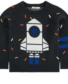 FW19 Chandail Tricoté Fusée et Confettis de Billibandit - Knitted Sweat Rocket and Confetti