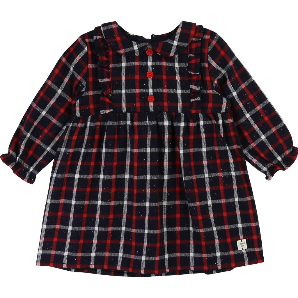Carrément Beau FW19 Robe Marine Rouge Carrément Beau - Winter Navy Red Dress