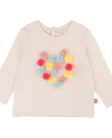 FW19 Tshirt Pompons Colorés BillieBlush - Colorful Pompon Tshirt