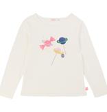 Billieblush FW19 Chandail à Manches Longues avec Imprimés Bonbons Planètes - Winter Candy Printed Tshirt