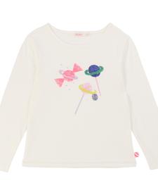 FW19 Chandail à Manches Longues avec Imprimés Bonbons Planètes - Winter Candy Printed Tshirt