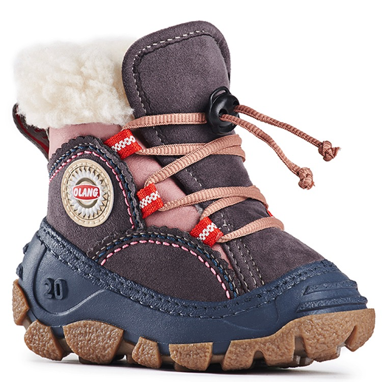 Olang FW19 Bottes d'Hiver Panda Antracite Rose - Winter Boots Olang