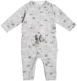 Miles Baby FW19 Combinaison en Molleton Léger à Manches Longues et Motifs Géométriques et Noeud Fantaisie de Miles Baby - Winter Playsuit