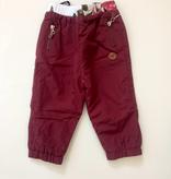 L&P FW19 Pantalons Doublés D'extérieur Bordeau - L&P