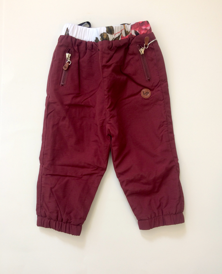 FW19 Pantalons Doublés D'extérieur Bordeau - L&P
