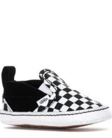 FW19 Souliers Bébé Checkerboard Crib Vans B&W Slip-On