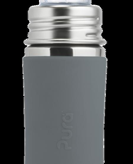 Bouteille en acier inoxydable Pura Kiki avec bec de silicone - Sippy Bottle 11 ozNatural