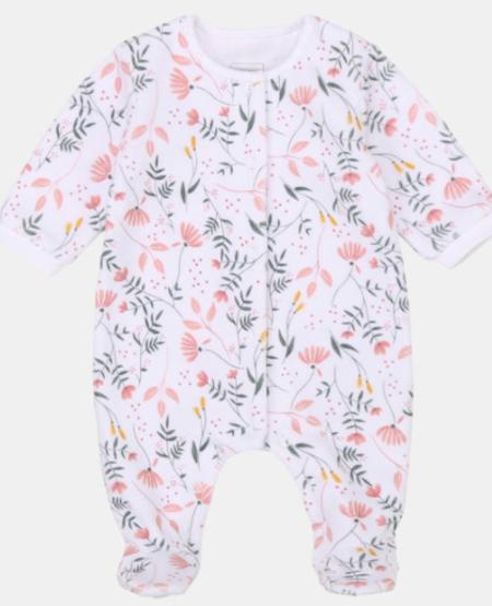FW20 Pyjama blanc fleur roses/Pink flowers white pyjamas