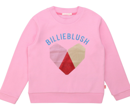 Billieblush FW20 Sweat molleton coeur rose friandise /sweat heart pink candy