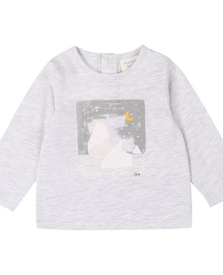 FW20 Teeshirt manches longues ours polair gris clair /Bear long sleeves light grey teeshirt