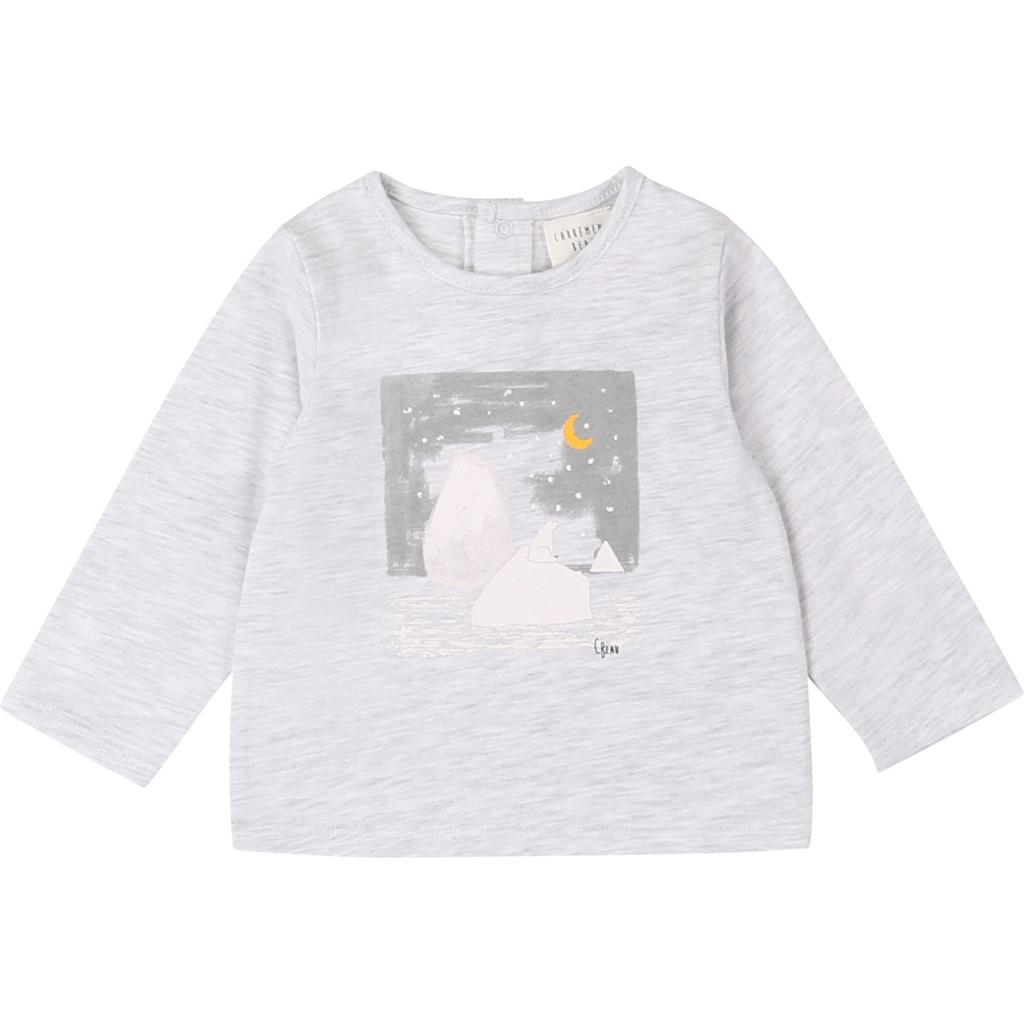 Carrément Beau FW20 Teeshirt manches longues ours polair gris clair /Bear long sleeves light grey teeshirt