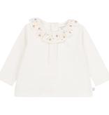 Carrément Beau FW20 Tee-shirt manche longue cole fleurs crème/offwhite Long sleeves tee-shirt