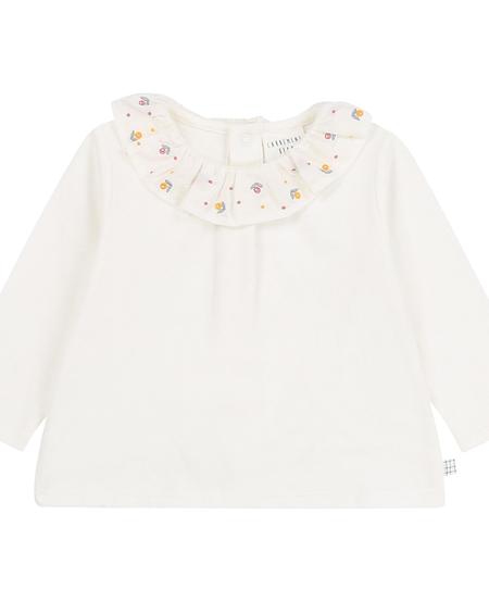 FW20 Tee-shirt manche longue cole fleurs crème/offwhite Long sleeves tee-shirt