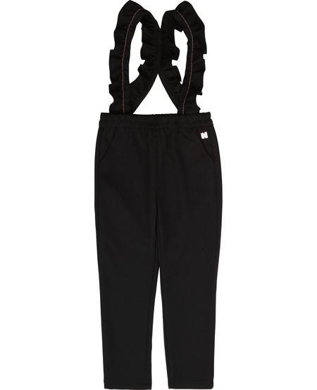 FW20 pantalon a Bretelles Charbon/Charcoal suspender pants