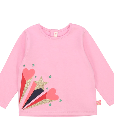 FW20 Tee-shirt manches longues coeur,étoile rose/Pink long sleeves tee-shirt heart star
