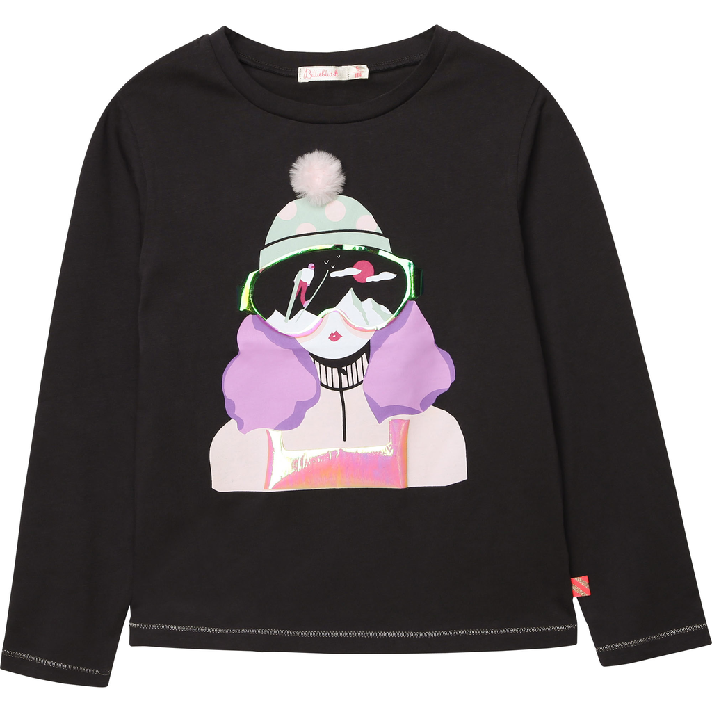 Billieblush FW20 Tee-shirt manches longues filles ski gris foncé/Long sleeves Tee-shirt girl ski dark grey