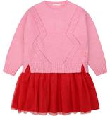 Billieblush FW20 Robe rose/rouge , Pink/red dress