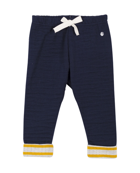 FW Pantalon bleu bordure jaune/ blue trouser with yellow strips