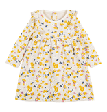 Petit Bateau FW20 Robe manches longues fleurie jaune et rose/Long sleeved floral pink and yellow dress
