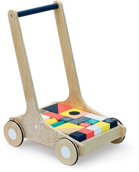 Chariot de Cubes de Vilac - Wooden Walker
