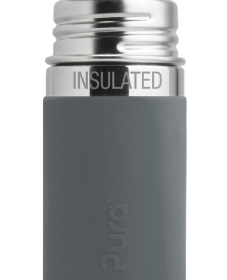 Biberon Isolé en Acier Inoxydable Pura Kiki - Stainless Steel - Infant Insulated Bottle 9oz Natural