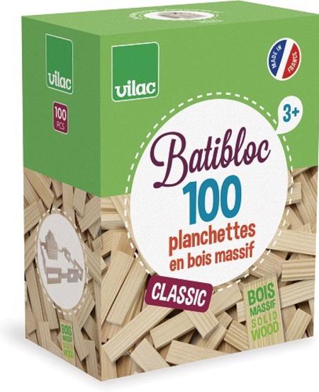 Planchette en Bois Massif 100 pièces de Vilac - Wood Set 100 pcs 3+