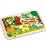"""Janod Mon premier casse-tête """"La forêt"""" de Janod - Chunky Puzzle Forest"""