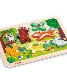 """Mon premier casse-tête """"La forêt"""" de Janod - Chunky Puzzle Forest"""