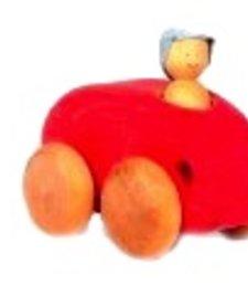Voiture Ovale Cheval de Bois Car