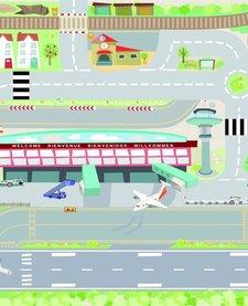 Tapis de Jeu Aéroport de Toy Van/Airport Playmat-80x120 cm