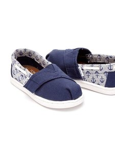 Chaussures Toms Shoes - Biminis Navy Canvas/Jersey Anchors