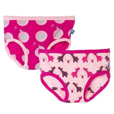 KicKee Pants Ensemble de 2 Culottes Kickee Pants/ Girl Underwear Set
