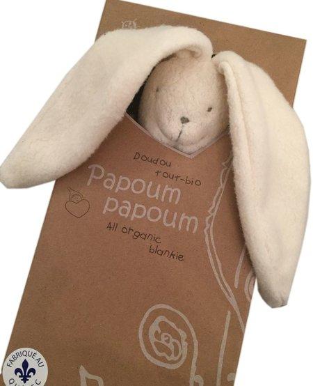 Lapinou Doudou Tout Bio de Papoum Papoum/ Rabbit Bio Blanket