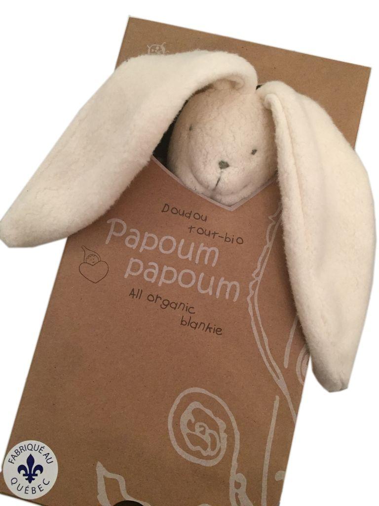 Papoum Papoum Lapino Doudou Tout Bio de Papoum Papoum/ Rabbit Bio Blanket